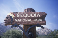 Sign for Sequoia National Park Royalty Free Stock Photography