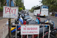 Sign of service for tourist and visitor on the street side of Pattaya Royalty Free Stock Images