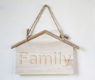 Sign shaped house hang wall Stock Photography