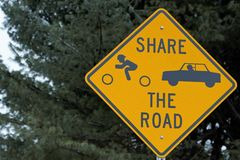 Sign share the road royalty free stock photo