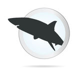 Sign shark in circle illustration Stock Photos