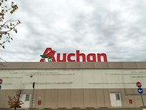 Auchan shopping center stock photography