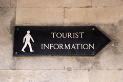 Tourist Information Sign. A sign showing the direction to a tourist information Stock Photography