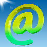At Sign Shows Online Mailing Communication Icon Royalty Free Stock Photo