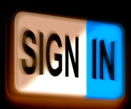 Sign In Sign Shows Log In Online Royalty Free Stock Photography