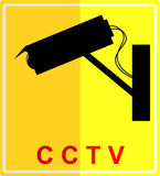 Sign - silhouette symbol of CCTV. Simple sign - silhouette symbol of CCTV Stock Image