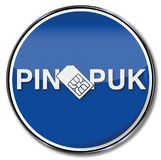 Simcard with a pin and puk. Sign simcard with a pin and puk Royalty Free Stock Image