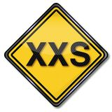 Sign size specification XXS. Sign size specification for XXS Royalty Free Stock Image