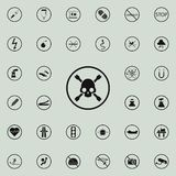 sign skull and bones icon. Warning signs icons universal set for web and mobile stock illustration