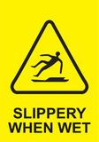 Sign Slippery When Wet in Vector Royalty Free Stock Photos
