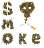 Sign smoke made of tobacco Royalty Free Stock Images