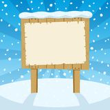 Sign & Snow Royalty Free Stock Photo