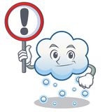 With sign snow cloud character cartoon Royalty Free Stock Images