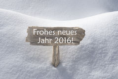 Sign With Snow Frohes Neues Mean Happy New Year Royalty Free Stock Images