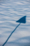 Sign and snow Stock Photography