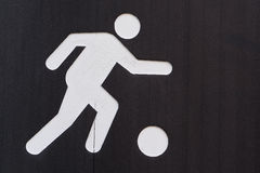 Sign of soccer playground Royalty Free Stock Photography