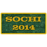 Sign on Sochi 2014 Stock Photo