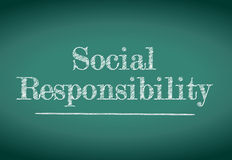 Sign. social responsibility illustration Royalty Free Stock Image