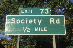 A sign for Society Road Royalty Free Stock Photo