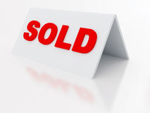 Sign sold Stock Photo