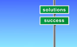 Sign of solutions success. Stock Image