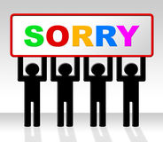 Sign Sorry Represents Apology Placard And Apologize Royalty Free Stock Photos