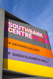 Sign at the Southbank Centre in London Stock Photography