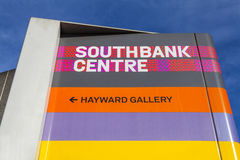 Sign for the Southbank Centre in London Stock Image