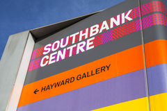 Sign at the Southbank Centre in London Royalty Free Stock Photography