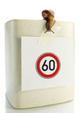 Sign speed  restriction Royalty Free Stock Image