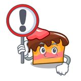 With sign sponge cake character cartoon. Vector illustration Royalty Free Stock Photos
