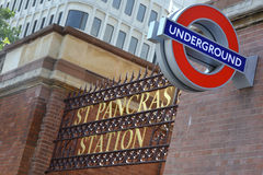 Sign for St Pancras Station Stock Photo