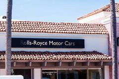 Sign states Rolls-Royce Motor Cars - La Jolla dealership Royalty Free Stock Photo