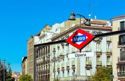 Sign station of metro Royalty Free Stock Images