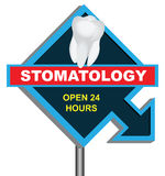 Sign stomatology Stock Images