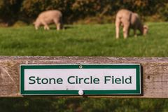 Sign: Stone circle field royalty free stock images