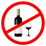 Sign stop alcohol Stock Image