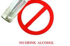 Sign stop alcohol isolate a white background Stock Images