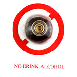 Sign stop alcohol isolate a white background Royalty Free Stock Photo