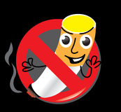Sign stop no cigarette smoke Stock Image