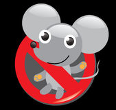 Sign stop no mouse Vector Illustration