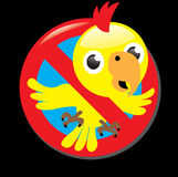Sign stop no parrot Royalty Free Illustration