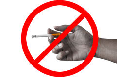 Sign stop smoking Stock Photography