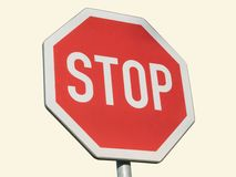 Sign of stop Royalty Free Stock Images