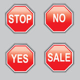 Sign stop yes no sale Stock Images