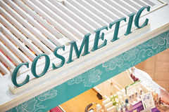 Sign on a store of cosmetic products. Royalty Free Stock Photography