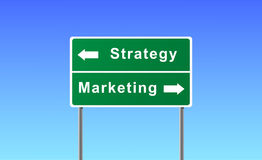 Sign strategy marketing. Stock Images