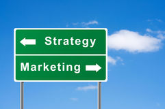 Sign strategy marketing. Royalty Free Stock Photos