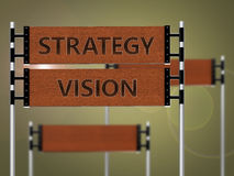 Sign strategy vision Stock Photo