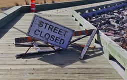 Sign street closed  royalty free stock images